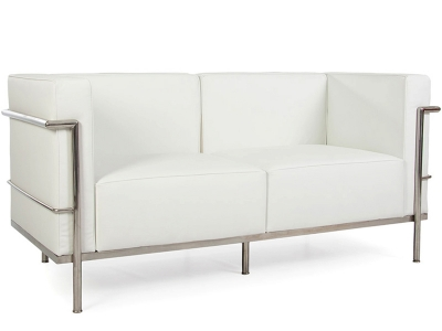 Image du mobilier design LC2 Le Corbusier 2 places Large-Blanc