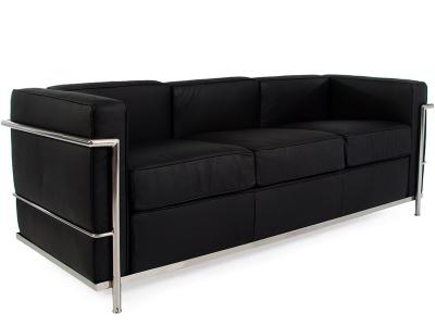 Lounge knoll 2 places noir - Canape le corbusier pas cher ...