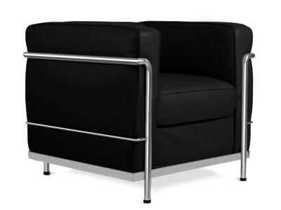 Image du mobilier design LC2 poltrona Le Corbusier - Nero