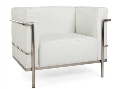 Image du mobilier design LC3 Fauteuil Large Le Corbusier-Blanc