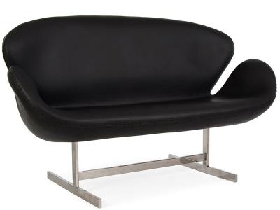Image du mobilier design Swan AJ 2 Places Cuir - Noir