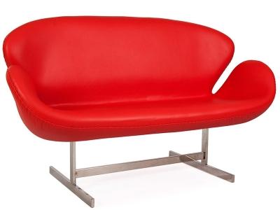 Image du mobilier design Swan AJ 2 Places Cuir - Rouge