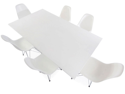 Image du mobilier design Table Eames Contract et 6 chaises