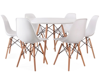 Image du mobilier design Table Eames WDW et 6 chaises