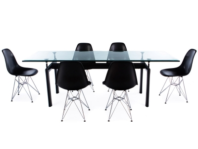 Image du mobilier design Table LC6 Le Corbusier et 6 chaises