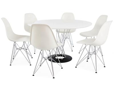 Image du mobilier design Tavolo Cyclone Noguchi e 6 sedie