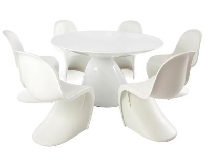 Image du mobilier design Tavolo Parabol con 6 sedie