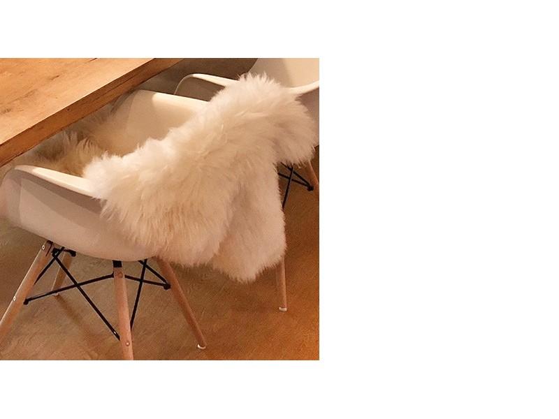 Image de la chaise design Abrigo natural - blanco