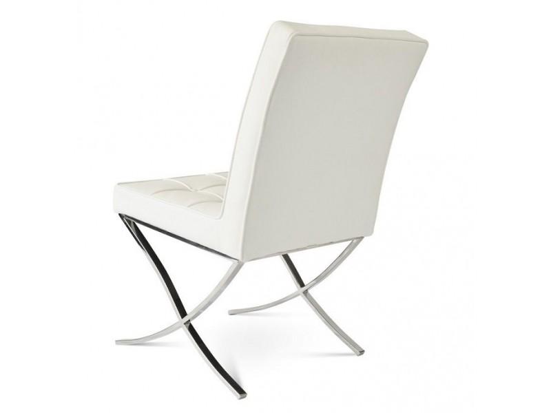 Image de la chaise design Barcelona Dining Chair - Crema blanca (2 sillas)