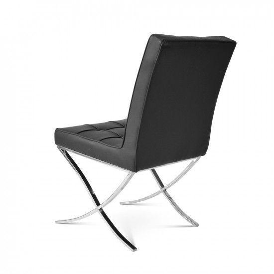 Image de la chaise design Barcelona Dining Chair - Negro (2 sillas)