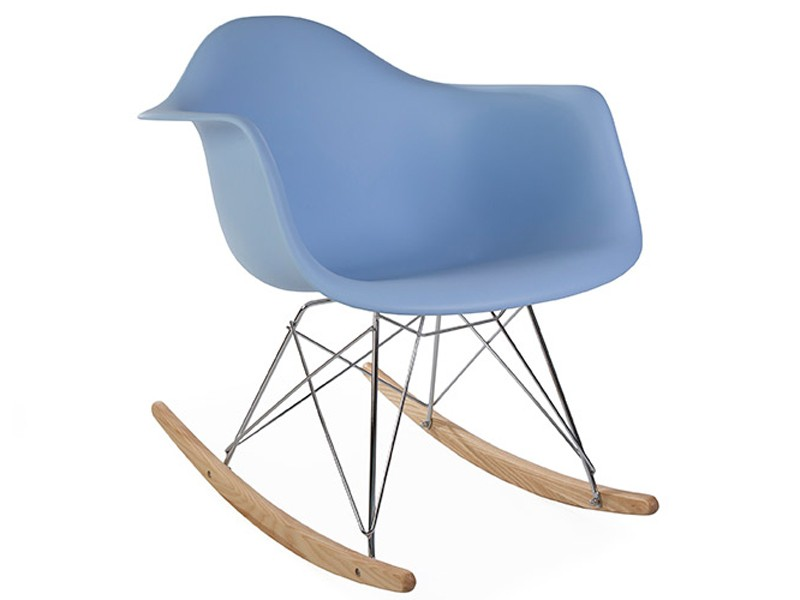 Image de la chaise design Eames Rocking Chair RAR - Azul claro