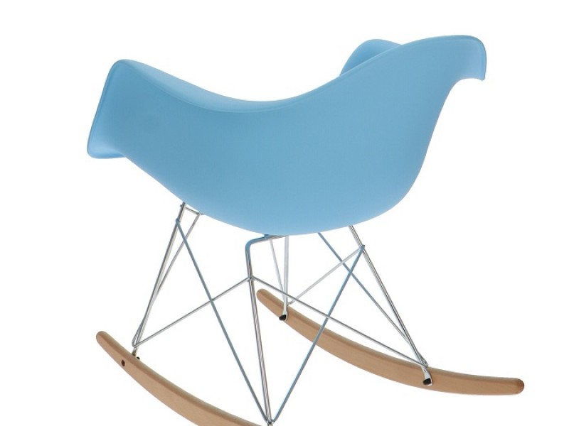 Image de la chaise design Eames Rocking Chair RAR- Azul claro
