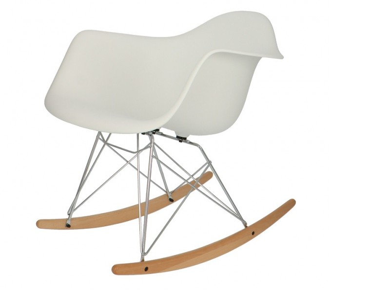 Image de la chaise design Eames Rocking Chair RAR - Blanco