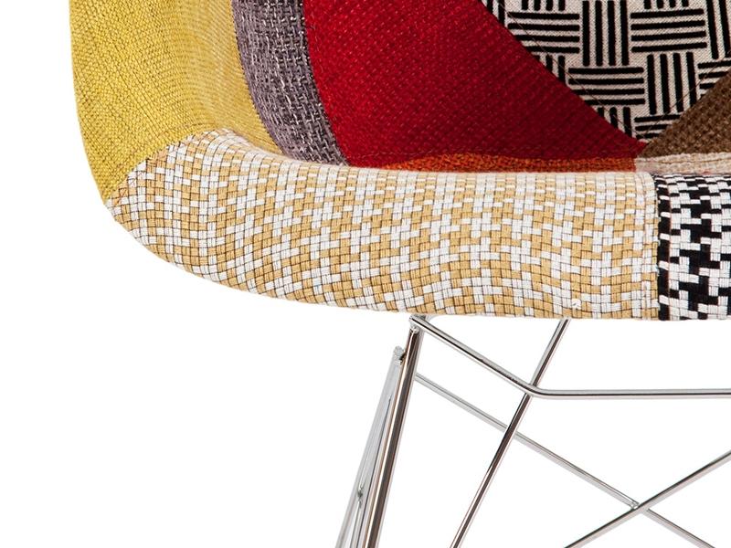 Image de la chaise design Eames Rocking Chair RAR- Patchwork