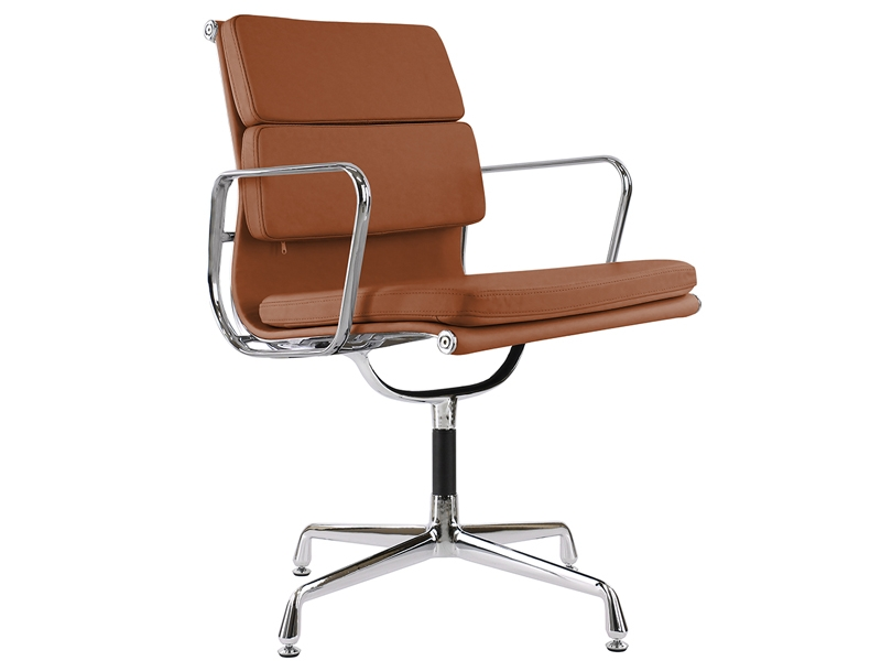 Image de la chaise design Eames Soft Pad EA208 - Caramelo