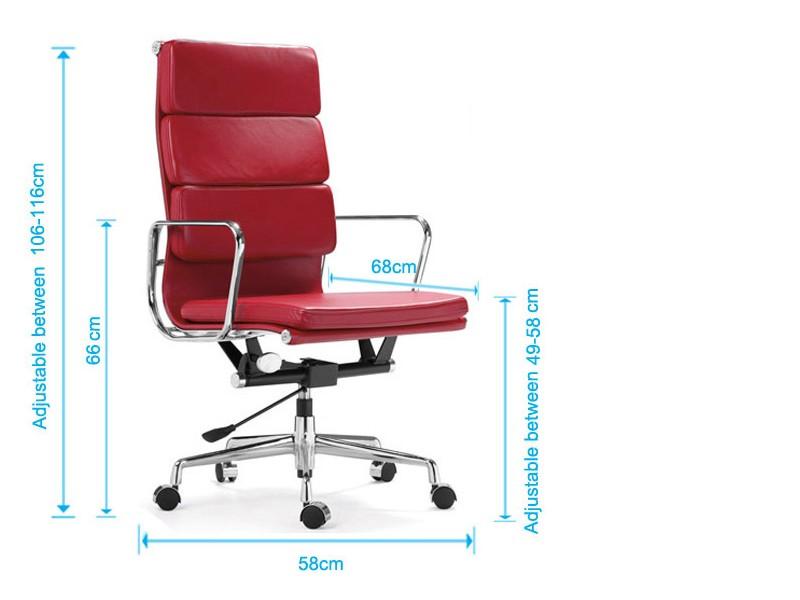 Image de la chaise design Eames Soft Pad EA219 - Gris claro