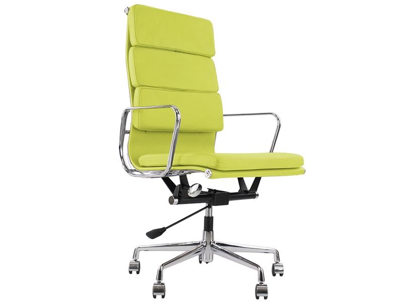 Image de la chaise design Eames Soft Pad EA219 - Verde limón