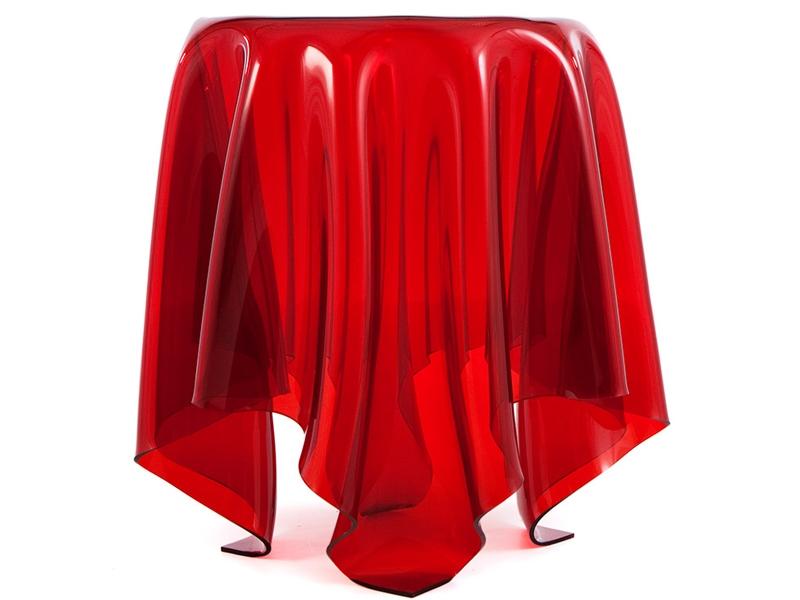 Image de la chaise design Mesa auxiliar Ilusión - Rojo
