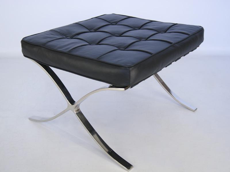Image de la chaise design Ottoman Barcelona - Negro
