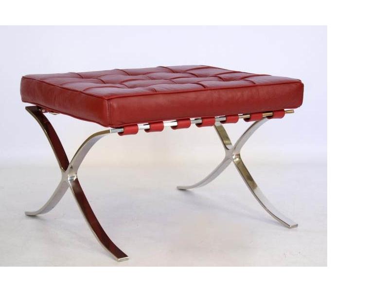 Image de la chaise design Ottoman Barcelona - Rojo oscuro