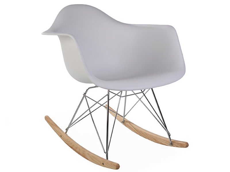 Image de la chaise design Rocking chair Cosy - Blanca