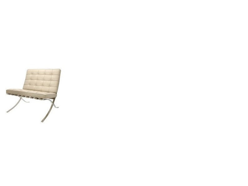 Image de la chaise design Silla Barcelona - Gris beige
