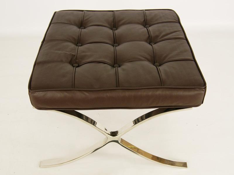 Image de la chaise design Silla Barcelona - Marrón oscuro