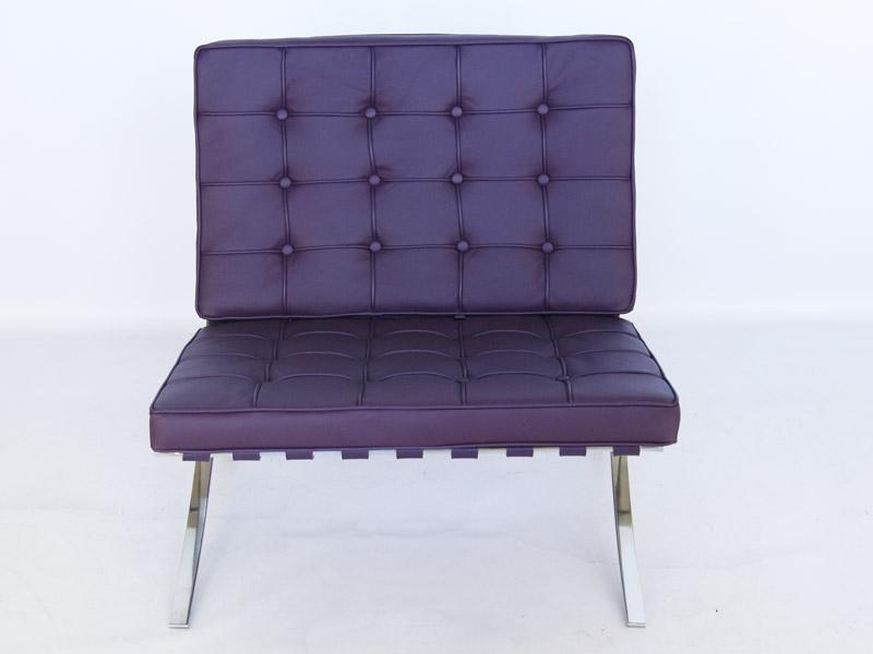Image de la chaise design Silla Barcelona - Púrpura