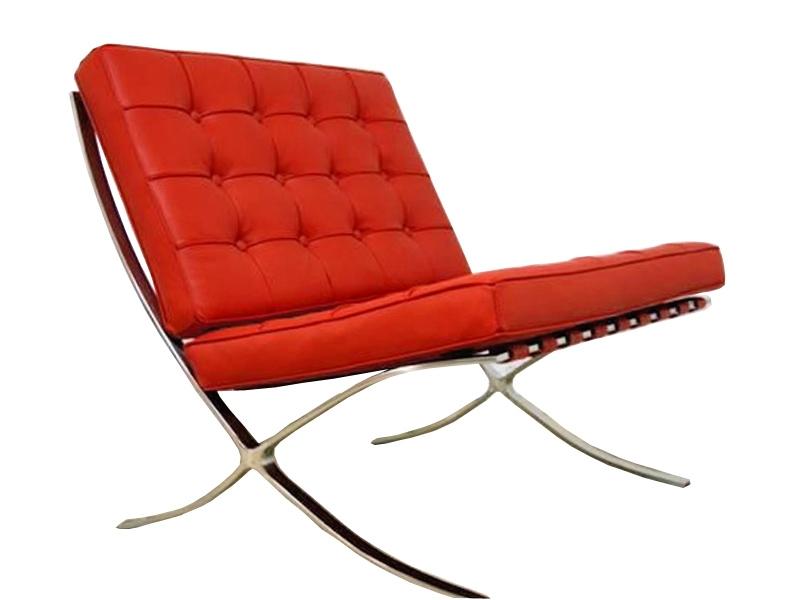 Image de la chaise design Silla Barcelona - Rojo
