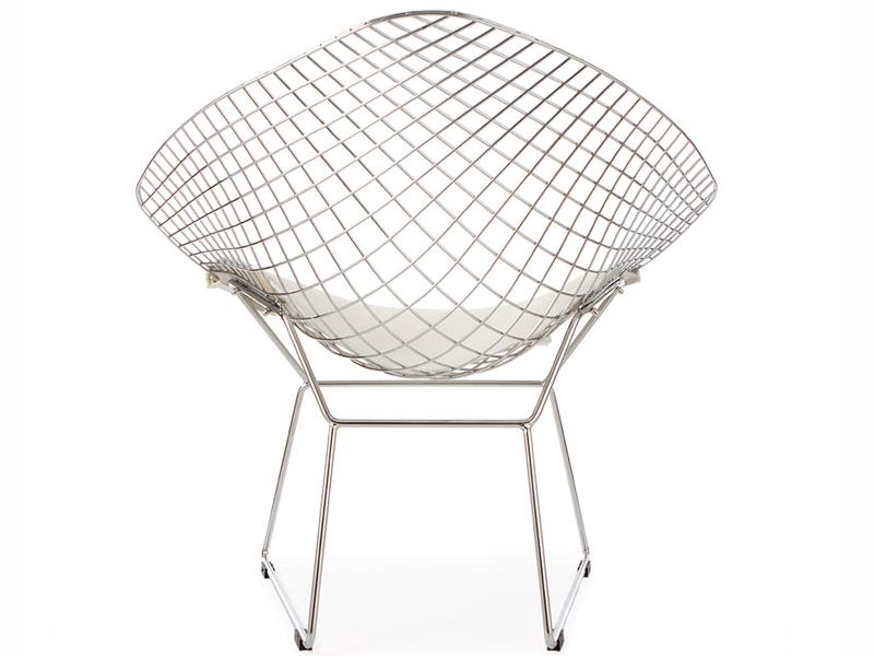Image de la chaise design Silla Bertoia Wire Diamond - Bianco