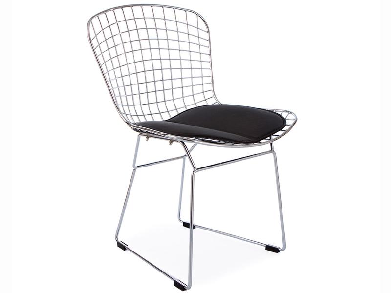 Image de la chaise design Silla Bertoia Wire Side - Negro