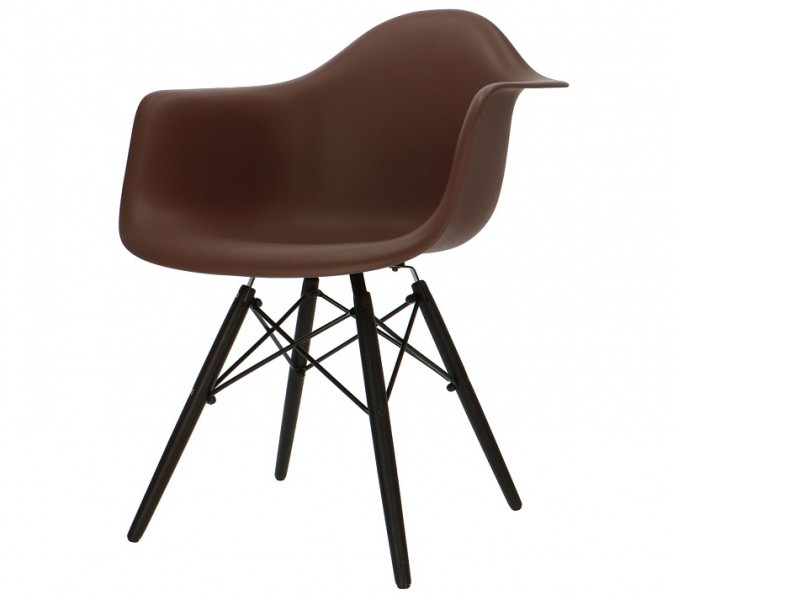 Image de la chaise design Silla Cosy Madera - Marrón