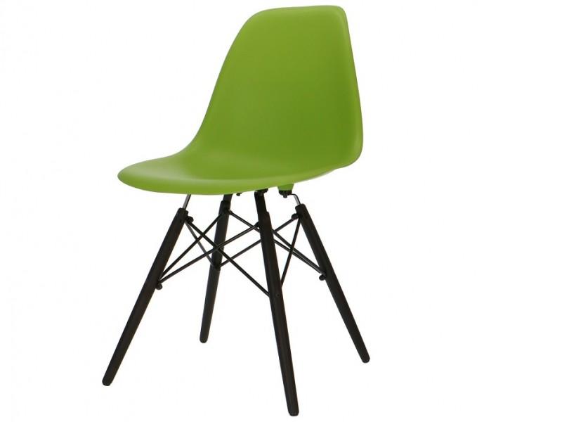 Image de la chaise design Silla Cosy Madera - Verde manzana