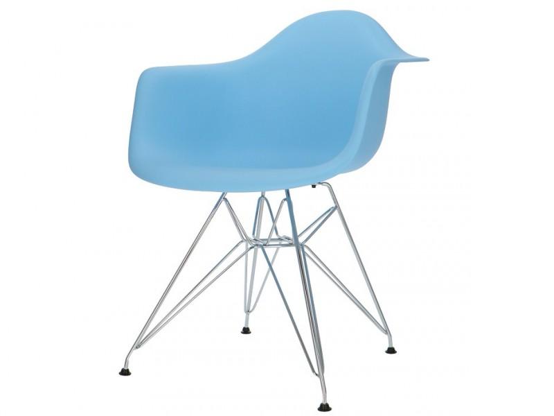 Image de la chaise design Silla Cosy Metal - Azul claro