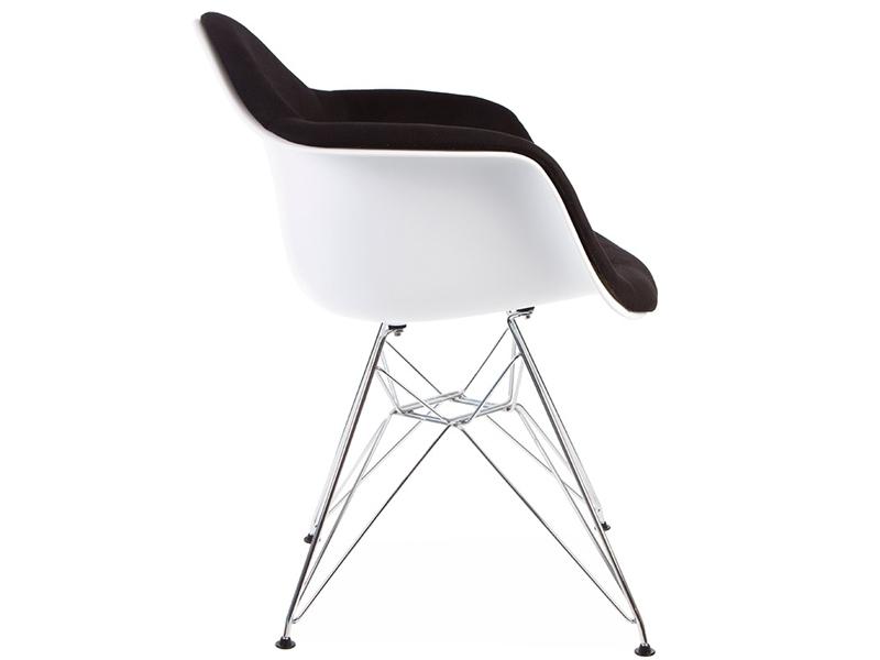 Image de la chaise design Silla DAR acolchada lana - Negro
