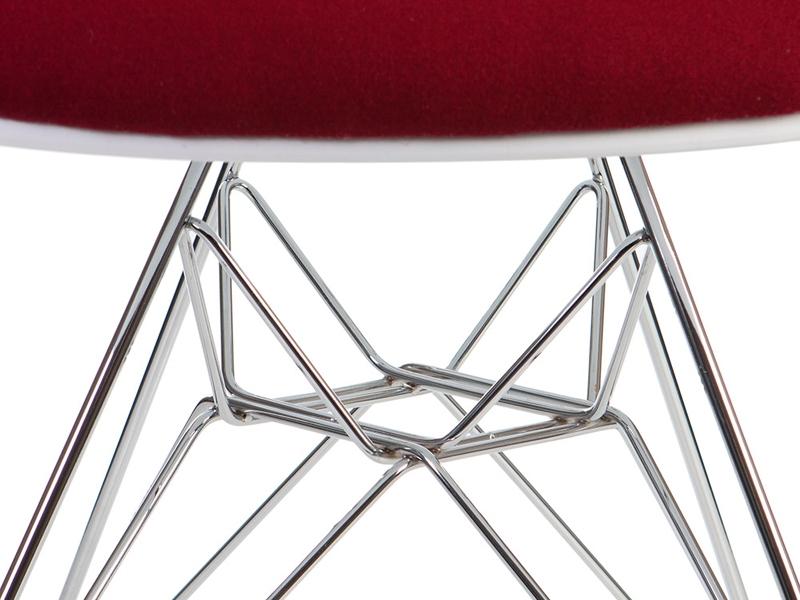 Image de la chaise design Silla DAR acolchada lana - Rojo