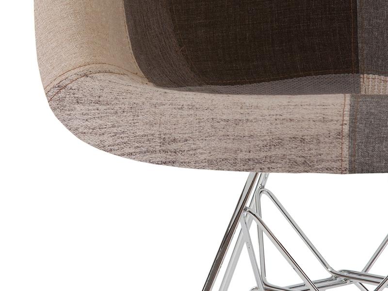 Image de la chaise design Silla DAR acolchada - Patchwork azul