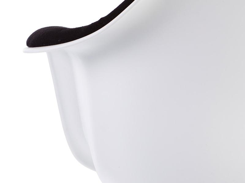 Image de la chaise design Silla DAW acolchada lana - Negro