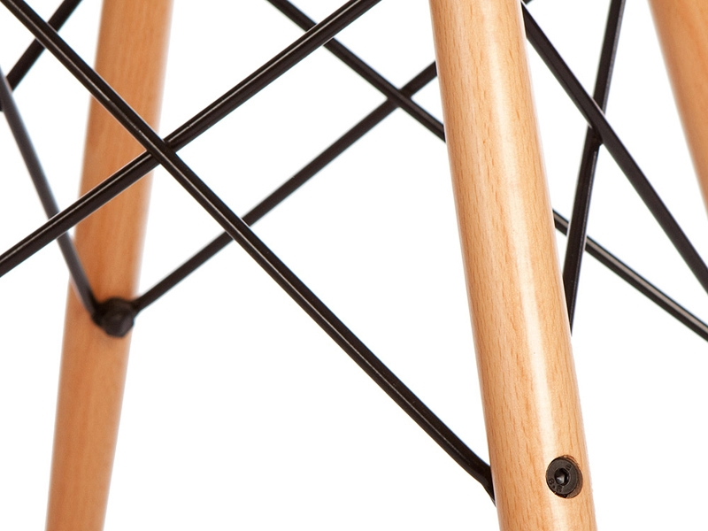 Image de la chaise design Silla DAW acolchada lana - Rojo