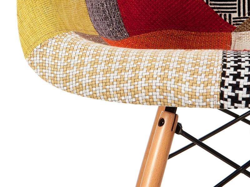 Image de la chaise design Silla DAW acolchada - Patchwork