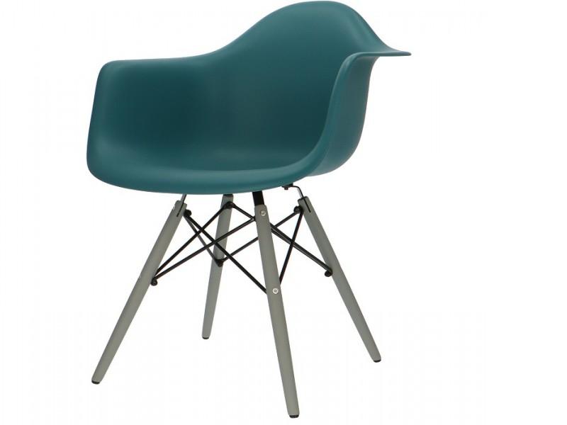 Image de la chaise design Silla DAW - Azul verde