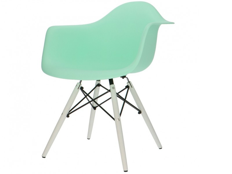 Image de la chaise design Silla DAW - Menta verde