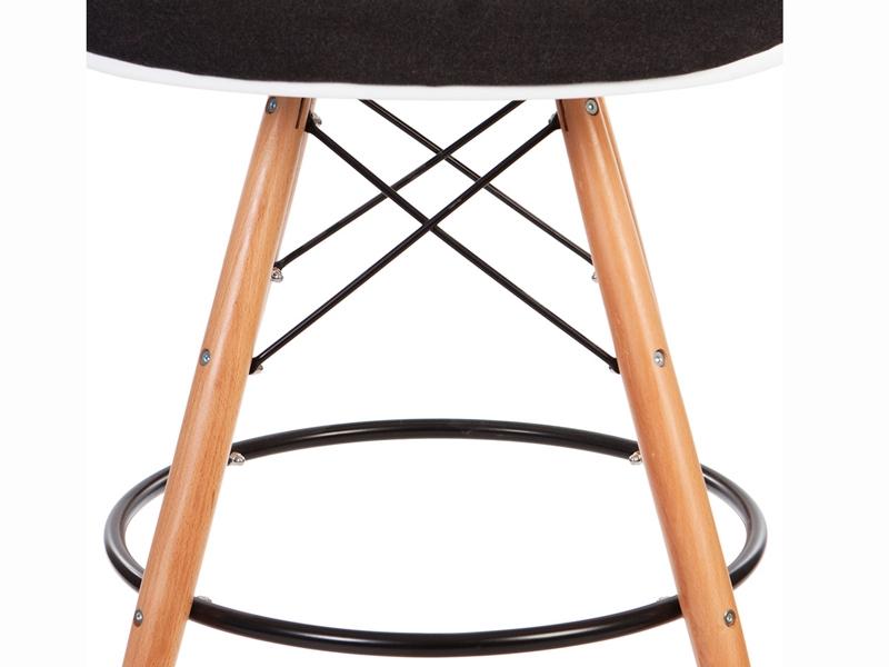 Image de la chaise design Silla de bar DAB almohadillado lana - Gris