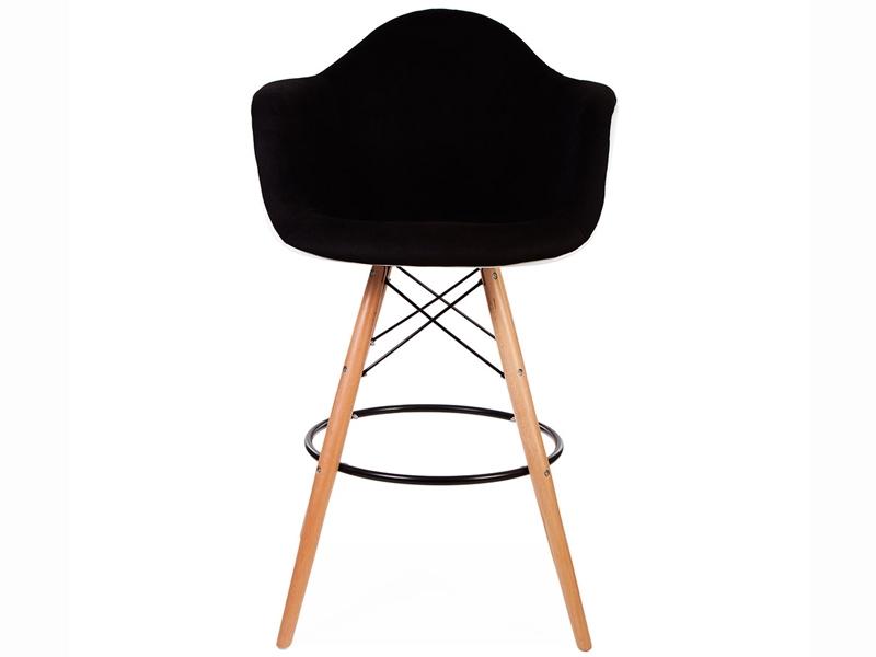 Image de la chaise design Silla de bar DAB almohadillado lana - Negro