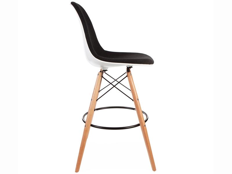 Image de la chaise design Silla de bar DSB almohadillado - Gris