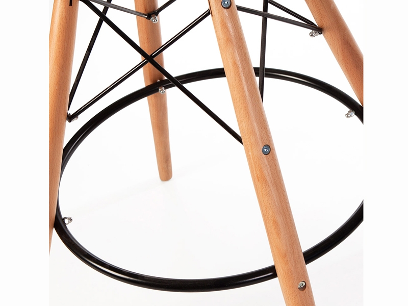 Image de la chaise design Silla de bar DSB almohadillado - Negro