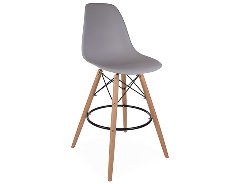 Image de la chaise design Silla de bar DSB - Gris ratón