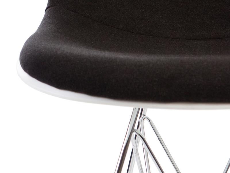 Image de la chaise design Silla DSR acolchada lana - Gris