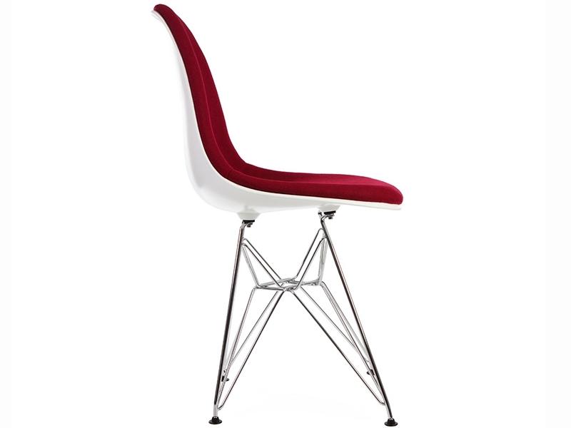 Image de la chaise design Silla DSR acolchada lana - Rojo