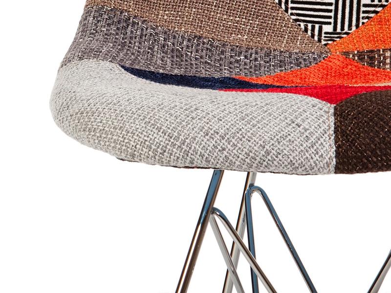 Image de la chaise design Silla DSR acolchada - Patchwork